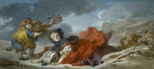 Winter | Jean-Honore Fragonard | oil painting