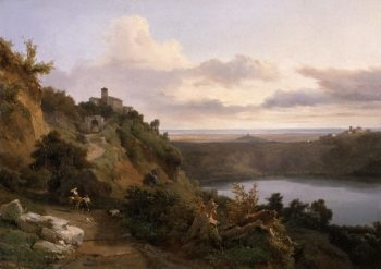 Lake Nemi | Jean-Charles Joseph Remond | oil painting