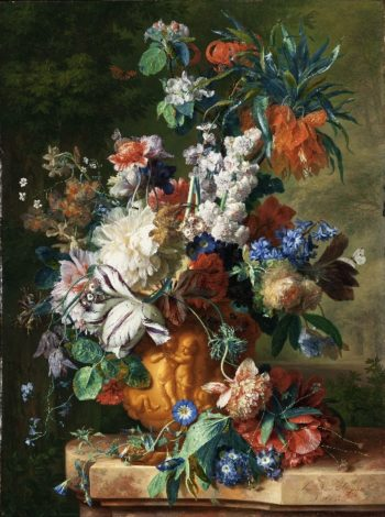 Bouquet of Flowers in an Urn | Jan van Huysum | oil painting