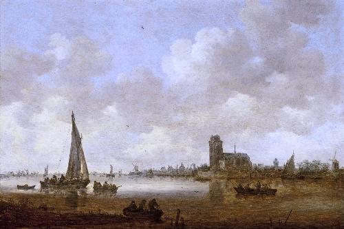 View of Dordrecht   Jan van Goyen   oil painting