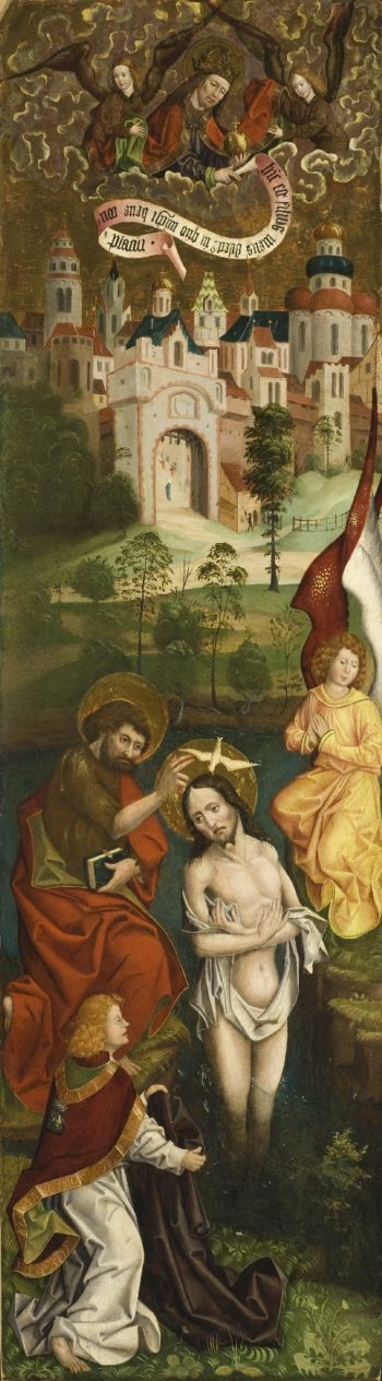 Baptism of Christ (one of four panels) | Jan Polack | oil painting