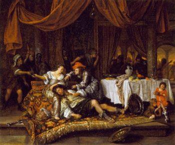 Samson and Delilah | Jan Havicksz Steen | oil painting
