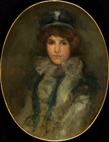 Blue and Coral The Little Blue Bonnet | James Abbott McNeill Whistler | oil painting