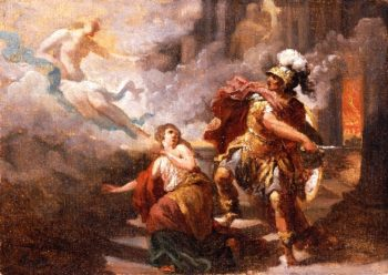 Helen Saved by Venus from the Wrath of Aeneas | Jacques Sablet | oil painting
