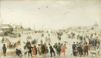 Winter Scene on a Frozen Canal | Hendrick Avercamp | oil painting