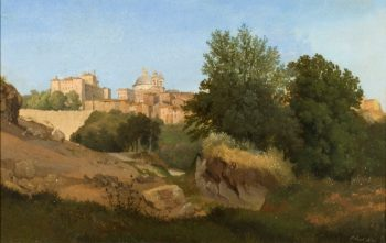 View of Ariccia | Gustaf Wilhelm Palm | oil painting