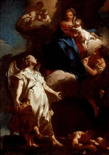 The Virgin Appearing to the Guardian Angel | Giovanni Battista Piazzetta | oil painting