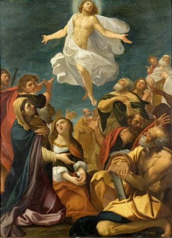Ascension of Christ | Giacomo Cavedone | oil painting