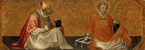 A Bishop Saint and Saint Lawrence | Gherado di Jacopo di Neri Starnina | oil painting