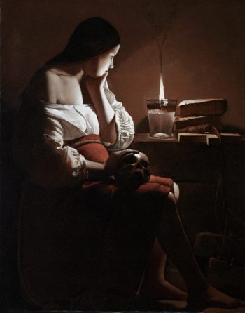 The Magdalen with the Smoking Flame | Georges de La Tour | oil painting