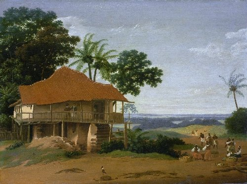 Brazilian Landscape with a Workers House | Frans Post | oil painting