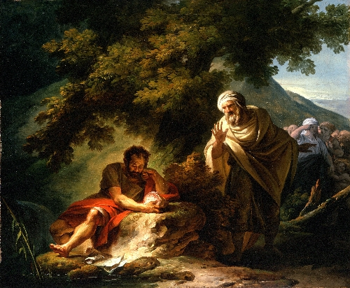 Democritus among the Abderitans | Francois-Andre Vincent | oil painting