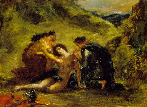 St. Sebastian with St. Irene and Attendant | Eugene Delacroix | oil painting