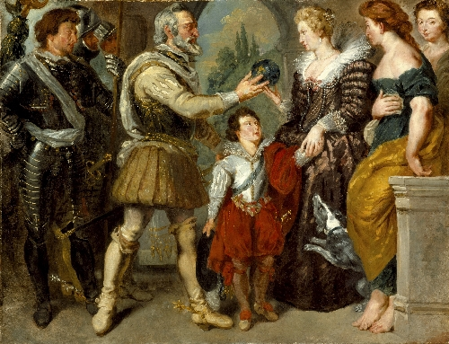 Henri IV Conferring the Regency upon Marie de Medici (after Rubens) | Eugene Delacroix | oil painting