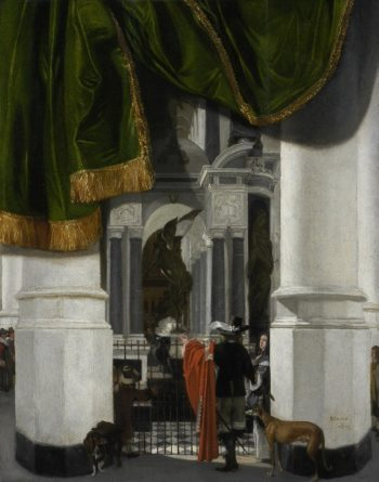 Interior of the Nieuwe Kerk in Delft with the Tomb of William the Silent | Emmanuel de Witte | oil painting