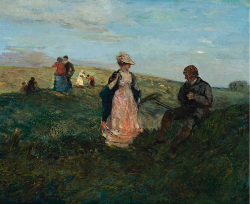 Landscape with Figures 1904   Charles Conder   oil painting