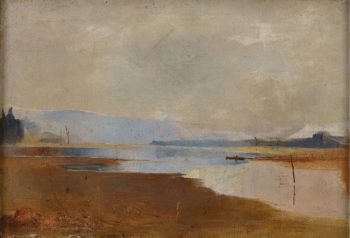 River Landscape 1888 | Charles Conder | oil painting