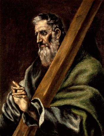 The Apostle St. Andrew | El Greco (school of) | oil painting