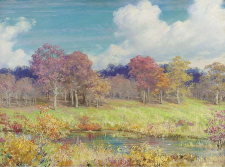Autumn Landscape 1928 | Charles Courtney Curran | oil painting