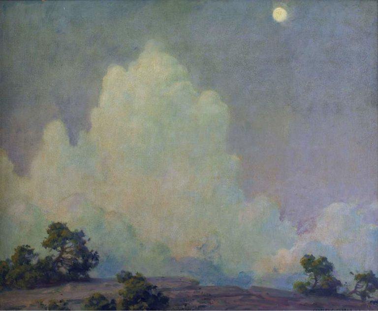 Evening Cloud and Rising Moon 1942 | Charles Courtney Curran | oil painting