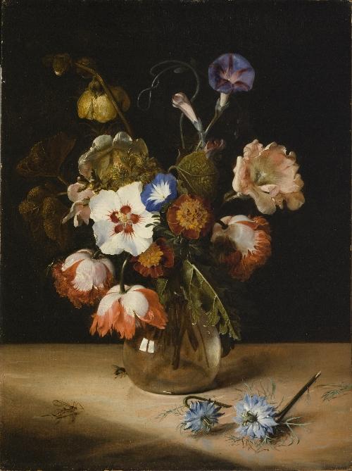 Flowers in a Glass Vase | Dirck de Bray | oil painting