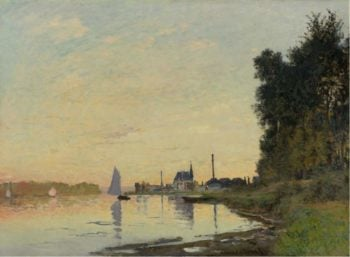 Argenteuil Late Afternoon 1872 | Claude Monet | oil painting