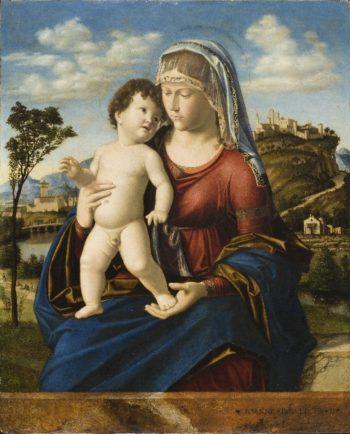 Madonna and Child in a Landscape | Cima da Conegliano | oil painting