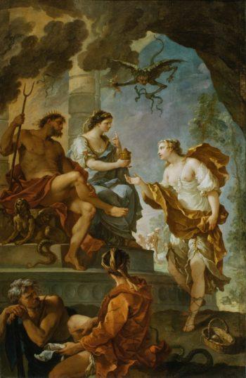 Psyche Obtaining the Elixir of Beauty from Proserpine | Charles-Joseph Natoire | oil painting