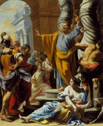 St. Peter Preaching in Jerusalem | Charles Poerson | oil painting