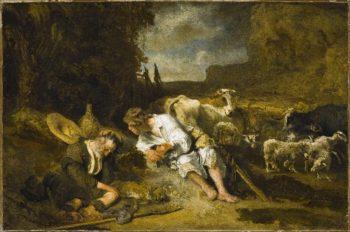 Mercury and Argus | Carel Fabritius | oil painting