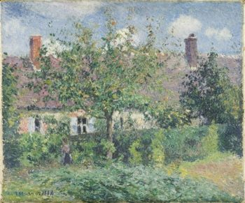 Peasant House at Eragny | Camille Pissarro | oil painting