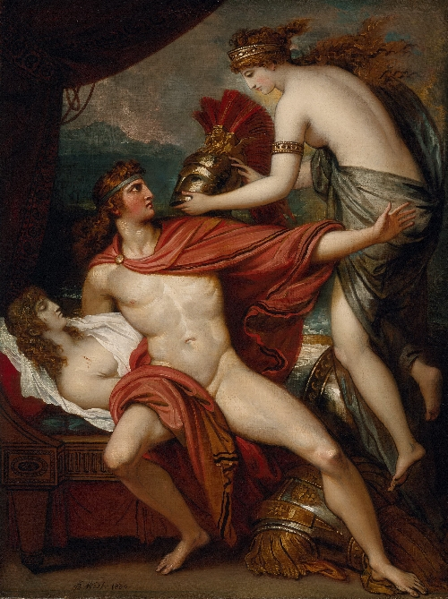 Thetis bringing the Armor to Achilles | Benjamin West | oil painting