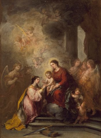 The Mystic Marriage of Saint Catherine | Bartolome Esteban Murillo | oil painting