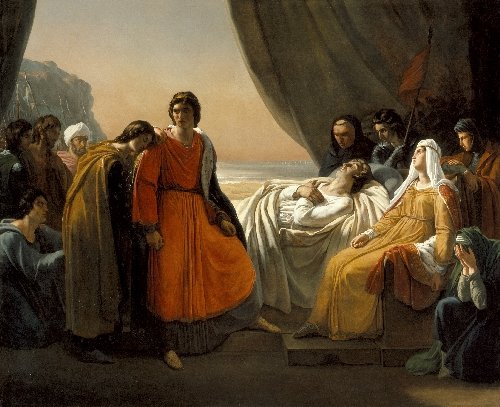 The Death of Saint Louis | Ary Scheffer | oil painting