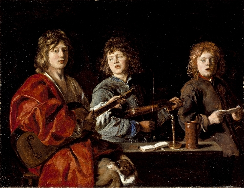Three Young Musicians | Antoine Le Nain | oil painting