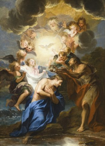 The Baptism of Christ | Antoine Coypel | oil painting