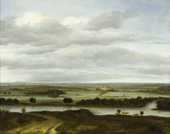 Panoramic Landscape near Rhenen with the Huis ter Lede | Anthonie Van Borssom | oil painting