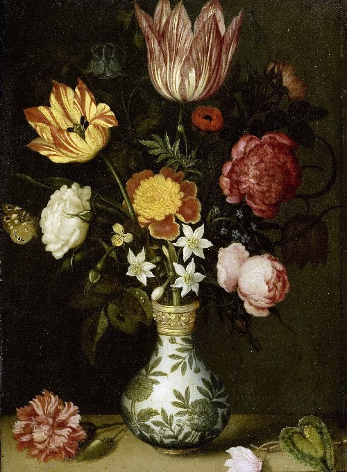 Bouquet of flowers on a ledge (1619-1620) | Ambrosius Bosschaert the Elder | oil painting