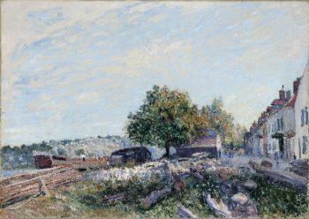 Saint Mammes-Morning | Alfred Sisley | oil painting