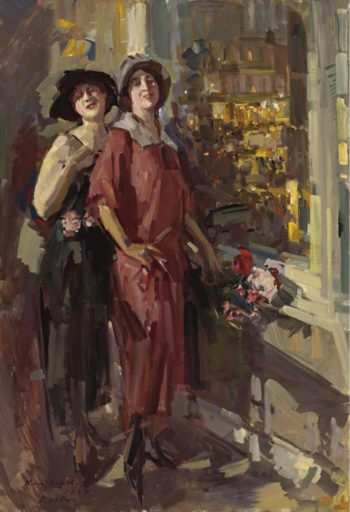 At the Window 1923 | Constantin Korovin | oil painting