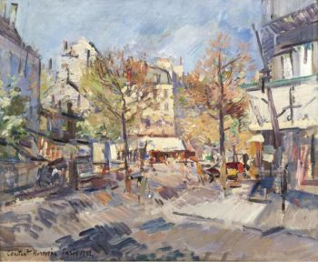 Autumn in Paris 1929 | Constantin Korovin | oil painting