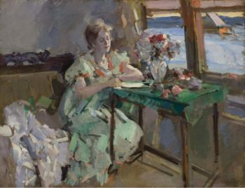 By the Window | Constantin Korovin | oil painting