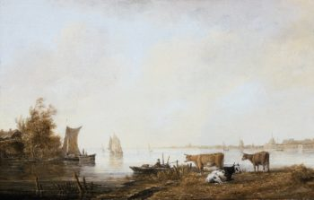 View of the Maas near Dordrecht | Aelbert Cuyp | oil painting