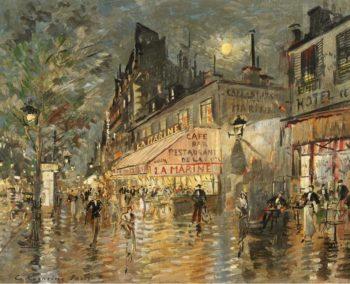 Cafe La Marin Paris | Constantin Korovin | oil painting