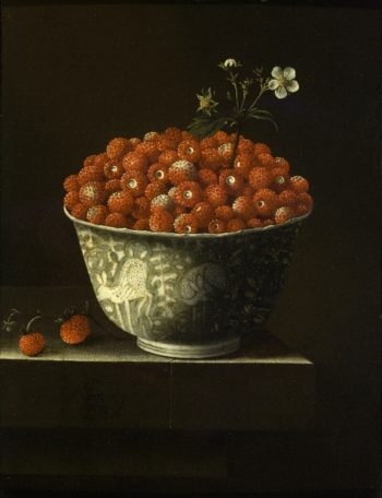 Wild Strawberries in a Wan Li Bowl | Adriaen Coorte | oil painting