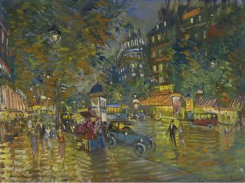 Evening in Paris | Constantin Korovin | oil painting