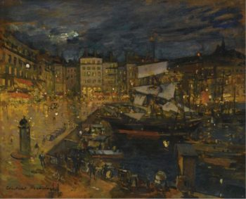 The Port of Marseille   Constantin Korovin   oil painting