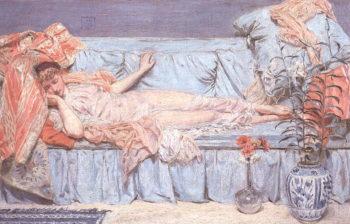 Lilies | Albert Moore | oil painting