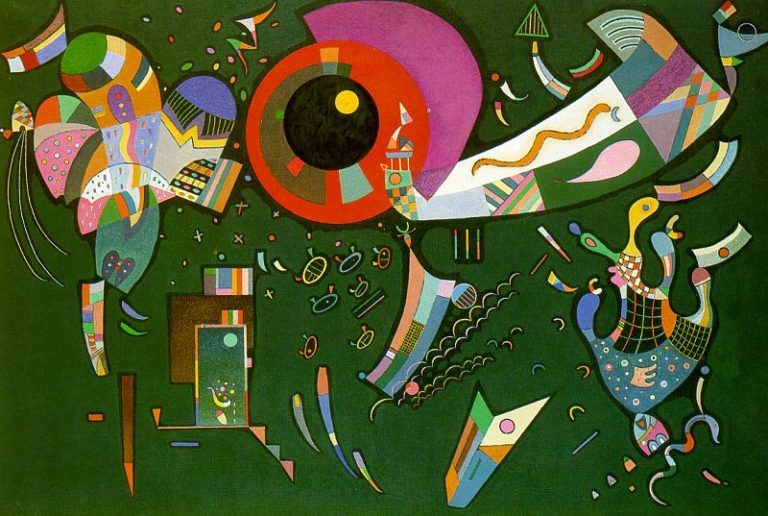 Around the Circle | Wassily Kandinsky | oil painting