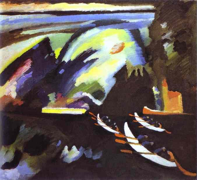 boat trip 1910   Wassily Kandinsky   oil painting